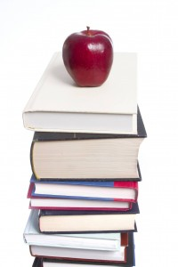 Apple on books small